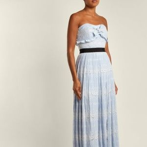 Self Portrait Strapless Floral Broderie Anglaise
